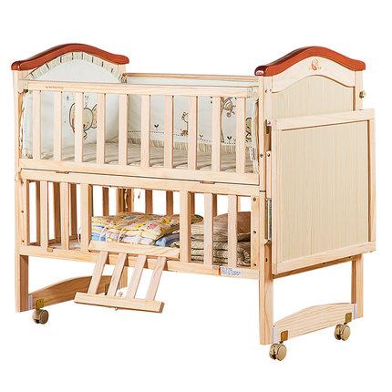 睿宝婴儿床实木无漆 宝宝