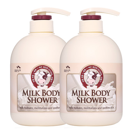 韩国进口所望牛奶沐浴露套